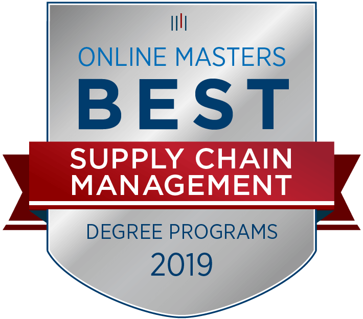 Online Masters Best Supply Chain Management Degree Program Badge for 2019