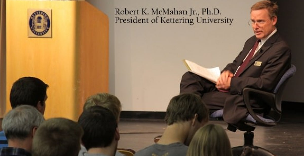 Kettering President To Speak on Robotics
