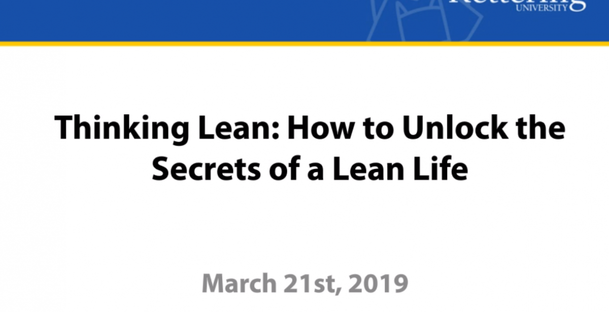 Thinking Lean: How to Unlock the Secrets of a Lean Life