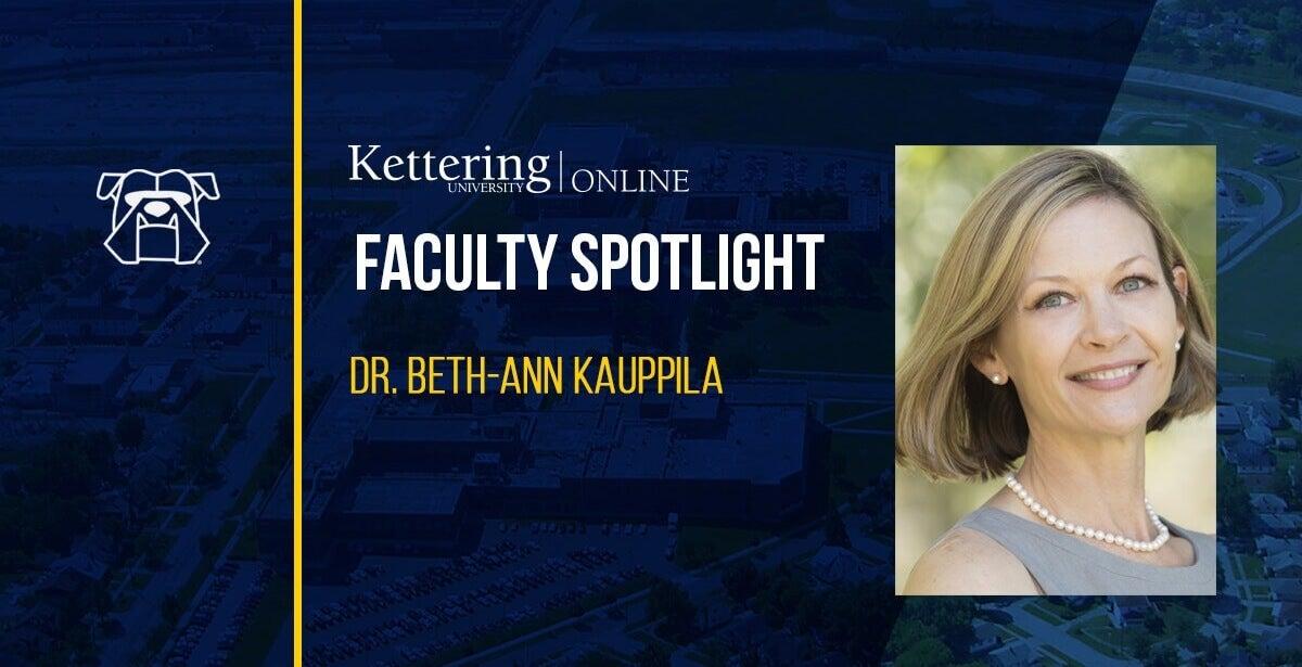 Veteran and Faculty Spotlight: Former Commander Beth-ann Kauppila, U.S. Navy, Medical Service Corps